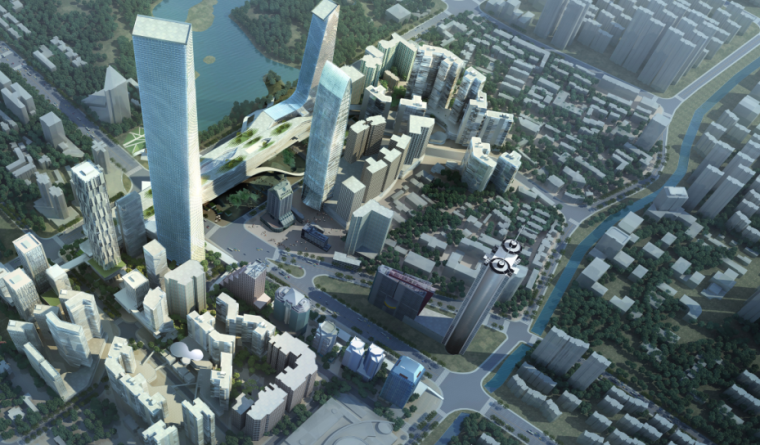 [深圳]罗湖区蔡屋围城中村改造城市规划设计