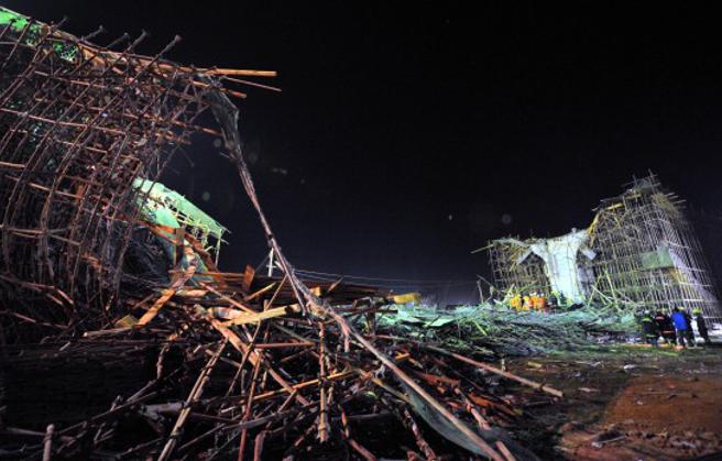 突发,无锡312国道无锡段发生高架桥坍塌事故_10