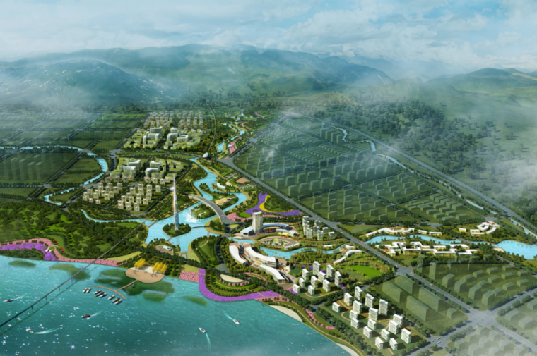[四川]遂宁河东城市滨水公园整体规划方案
