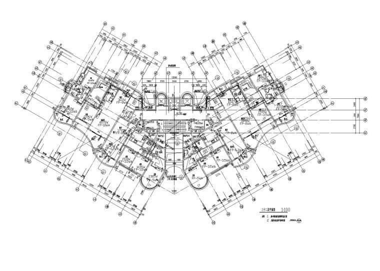 某高层小区户式多联机设计施工图纸