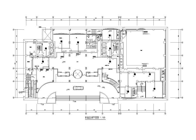 某23层办公室多联机中央空调系统设计图纸