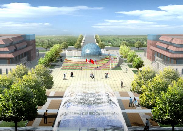 [河南]许昌市行政商务中心及公园景观方案