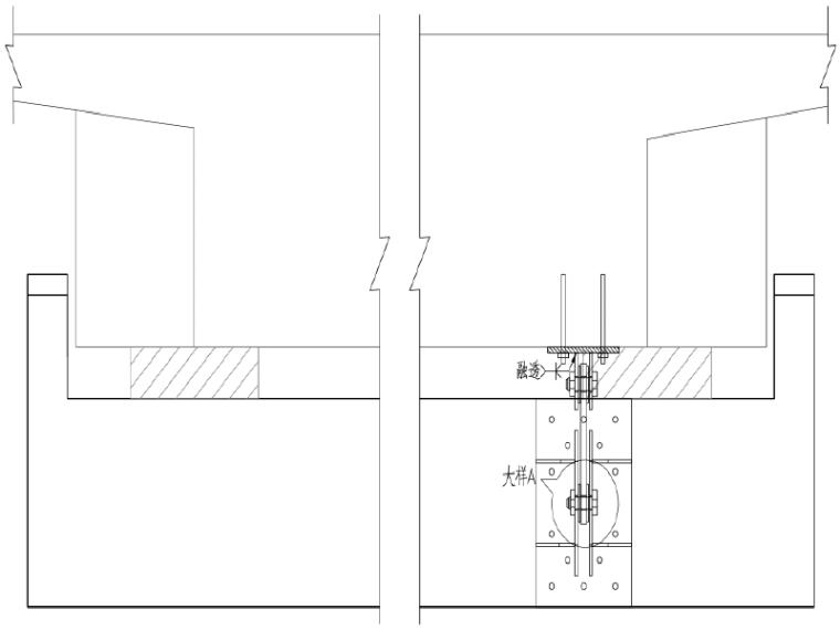 独柱墩连续箱梁桥横向抗倾覆加固方案设计