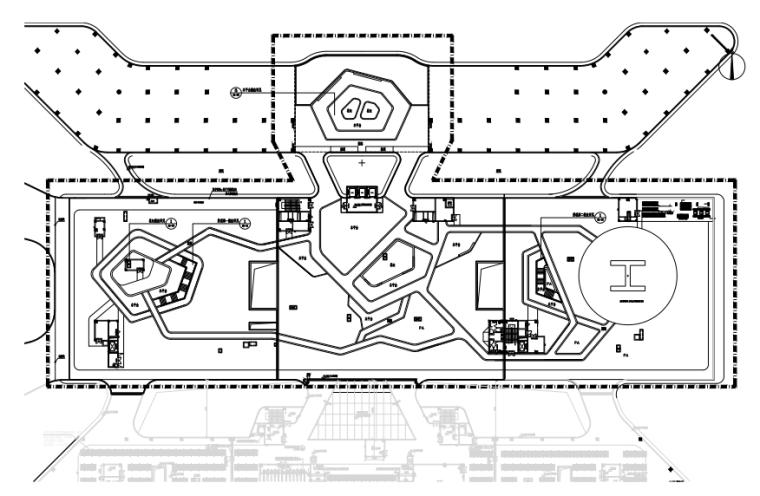 [湖南]医院屋顶花园景观施工图-含项目清单
