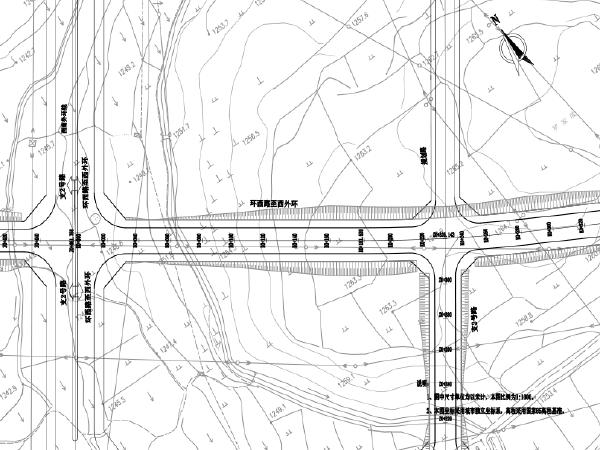 城市外环路及支线道路建设工程施工图纸