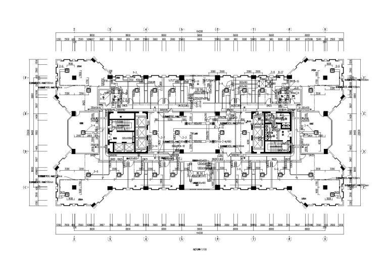 27层办公酒店综合楼暖通施工图