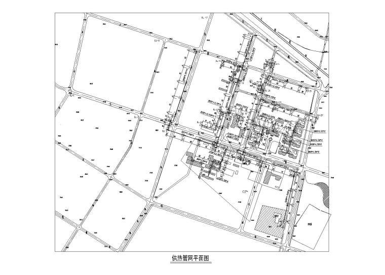 采暖管网施工图资料下载-室外热力管网施工图