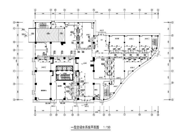 6000平办公楼地源热泵系统施工图
