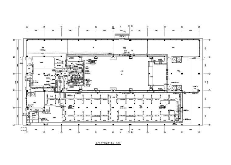 广州某电子厂生产车间暖通施工图