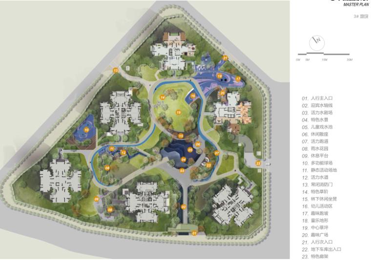 [重庆]现代居住区景观深化方案文本-流线