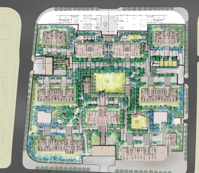 [上海]现代居住区示范区景观概念设计方案