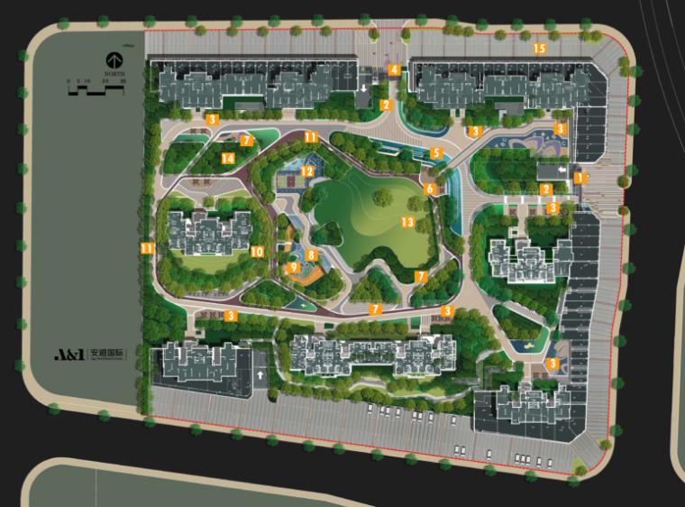[浙江]龙湖折线现代居住区景观设计方案文本