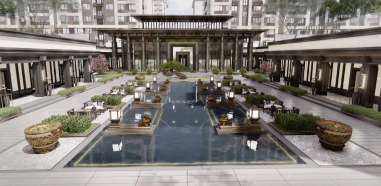 [山东]济南璞悦府中式大区景观深化方案设计