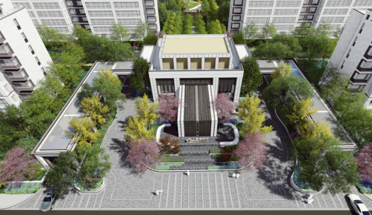 [山东]临沂现代折线居住区景观方案深化设计