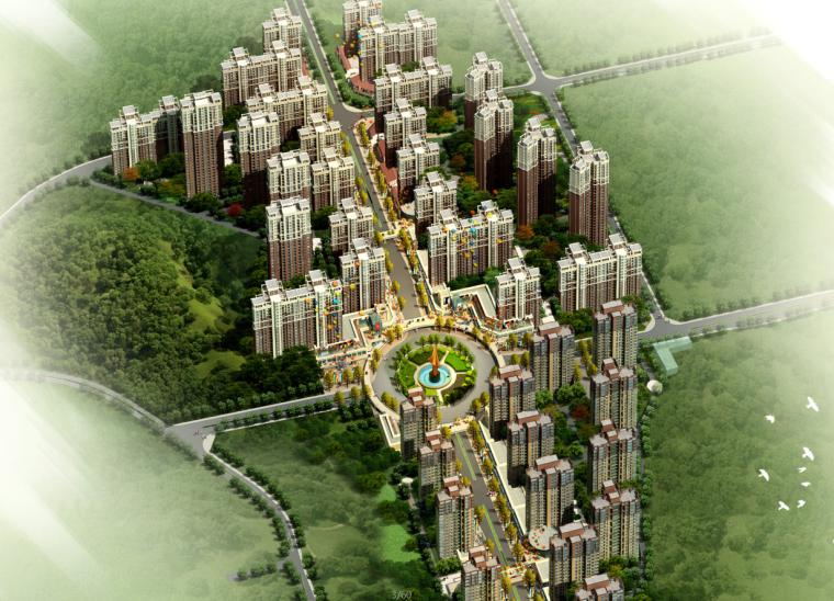 [湖南]欧陆山地高层住宅建筑设计