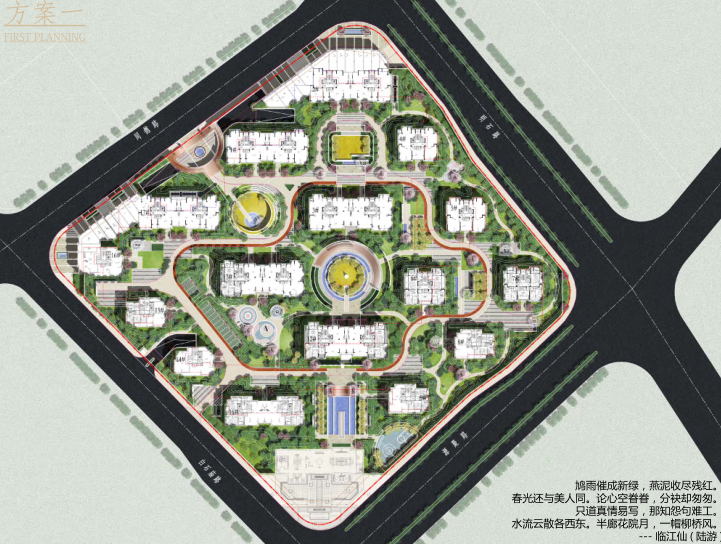 [浙江]杭州金茂府居住区大区景观方案设计