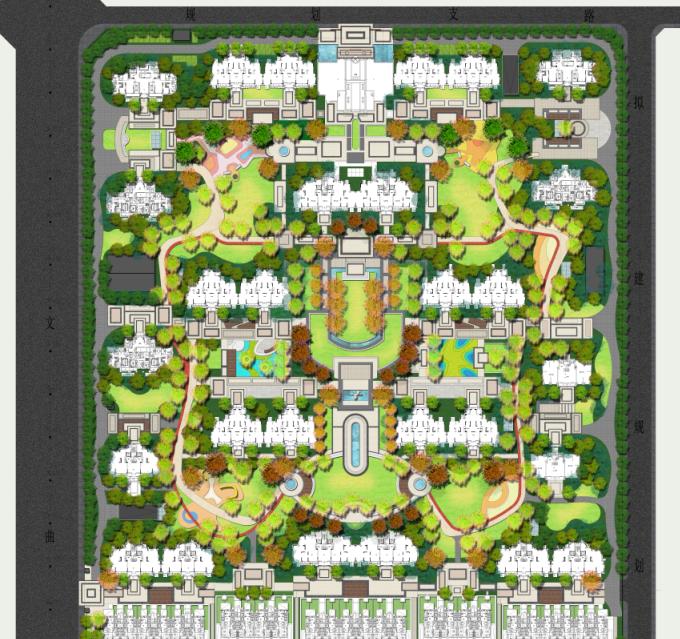 景观PS素材|住宅景观总平面图PSD+CAD平面图