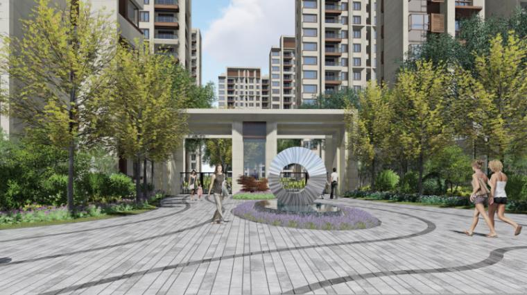 [上海]新城璞樾现代风格居住大区景观方案