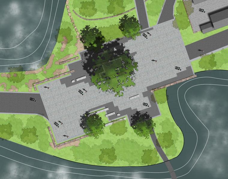 景观ps素材|别墅景观彩色平面图psd(1)