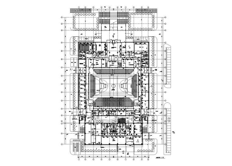 天津师范大学体育馆施工图暖通施工图