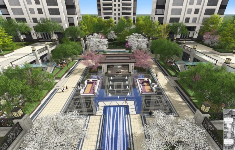 [河北]石家庄中冶公寓欧式景观深化方案