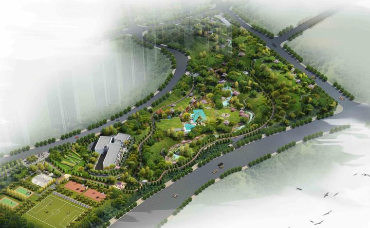 [重庆]龙湖江与城体育公园景观规划设计方案