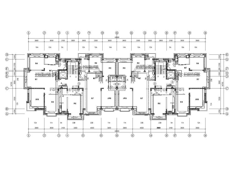 高层住宅采暖全套图纸(含平面及系统图)