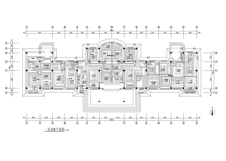 四层办公楼地暖全套施工图(含剖面图)