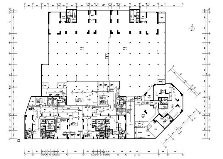 底层裙房商业高层住宅暖通全套施工图