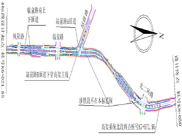 [专家]主线桥箱梁过路门洞贝雷梁施工方案