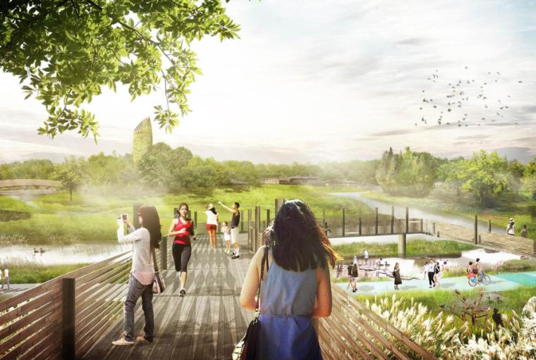 [四川]成都国际空港城市生态溪河公园景观