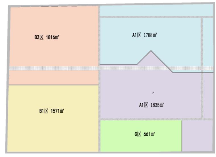 63地下室施工分区图