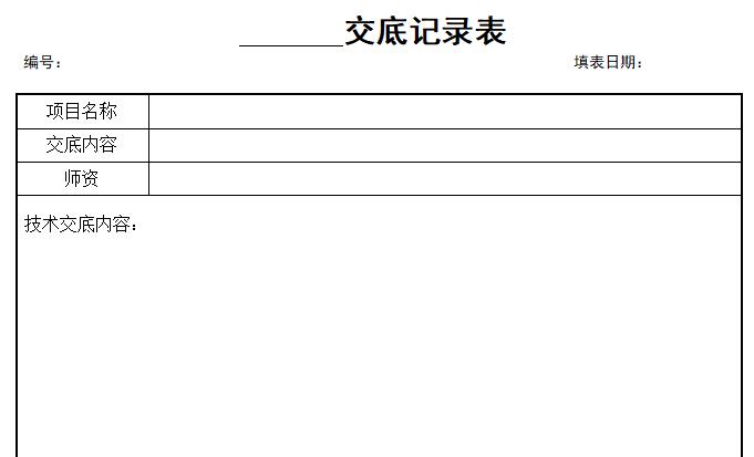 景观精细化管理表格技术交底,验收记录表