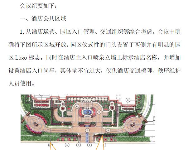 绿城桃花源酒店景观设计会议纪要模板