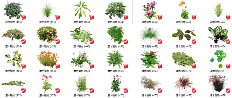 500套花卉灌木植物组件全集C(401-450)