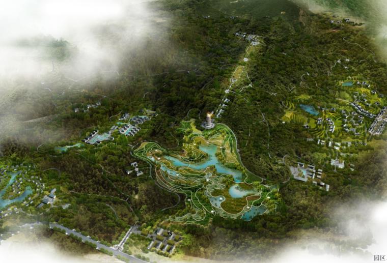 [重庆]南岸区云浮山中式生态园规划设计文本