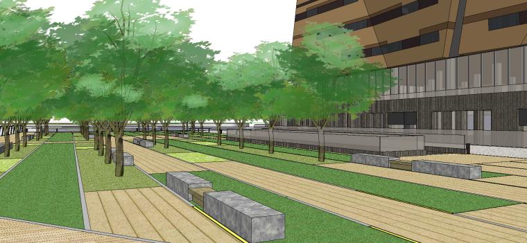 现代建筑科技展馆SU模型设计