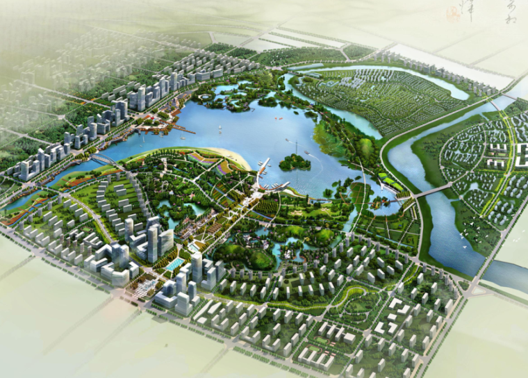 [湖南]长沙松雅湖生态公园概念规划设计