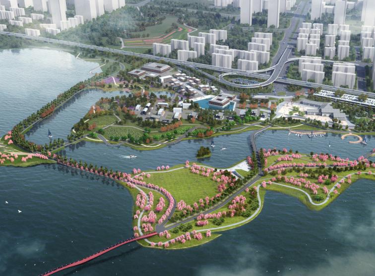 欧式独栋二层滨水资料下载-[武汉]东湖绿道滨水公园景观方案文本-SWA