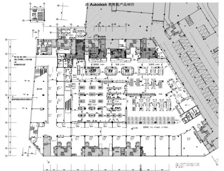 吉林公主岭华生购物中心超市区精装修施工图