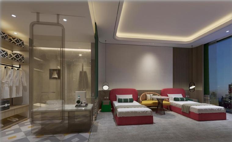 深圳水貝IBC亞朵酒店客房设计方案+效果图