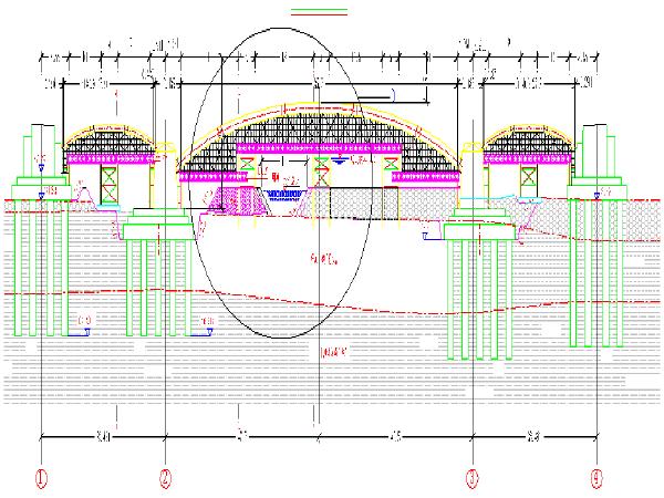 大跨径现浇曲线拱桥支架施工工法