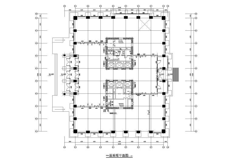 新疆某商业办公综合体暖通施工图(13万平)