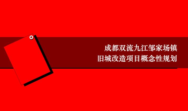 成都双流九江邹家场镇旧城改造概念性规划