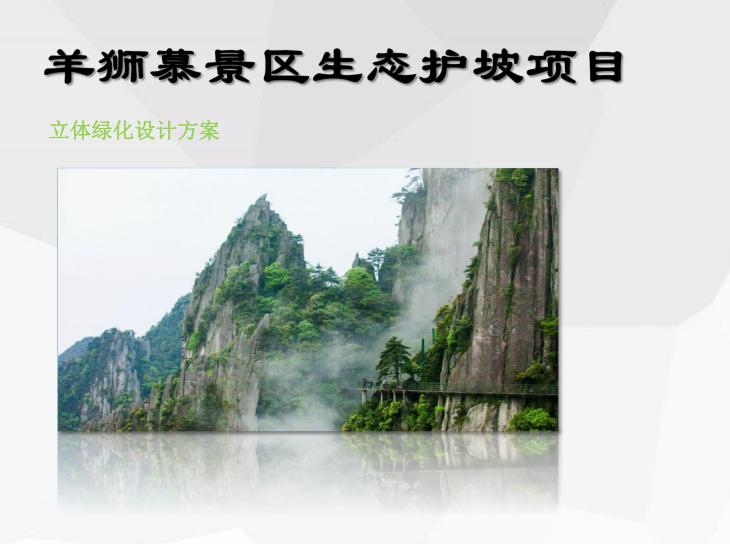 景区生态护坡项目(立体绿化设计方案)PDF