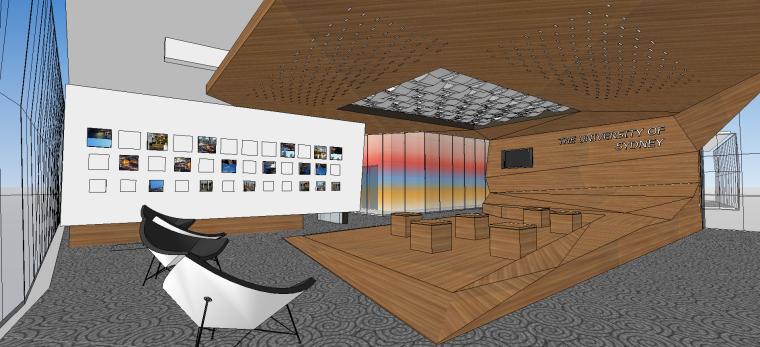 悉尼大学图书馆SU模型设计