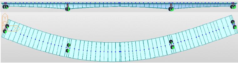 预应力弯箱梁CDN挠度验算与预拱度计算思路