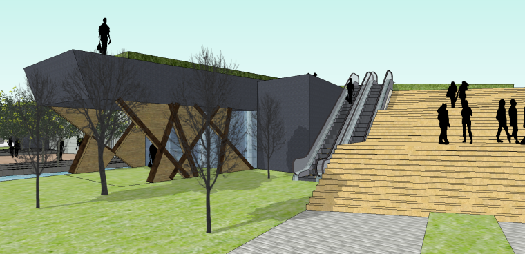 森林博物馆SU模型含CAD+功能分析
