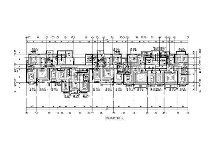 沧州某16层住宅暖通平面图_2
