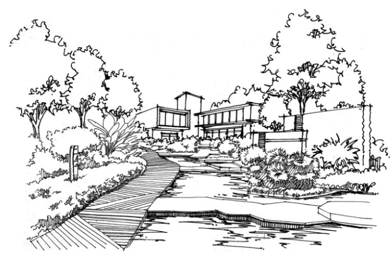 风景园林景观手绘线稿高清大图学习必备PDF